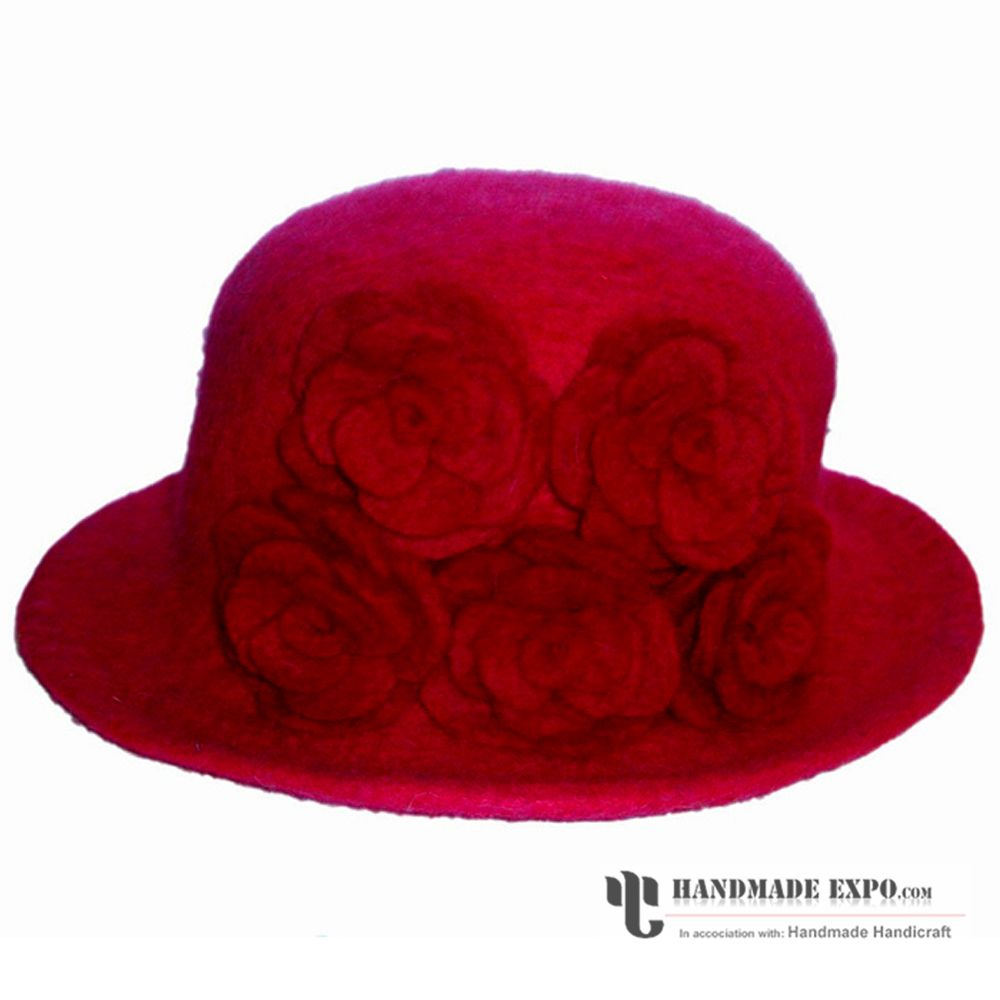 63a55600749 HME10699. Enlarge. five Rose Felt hat