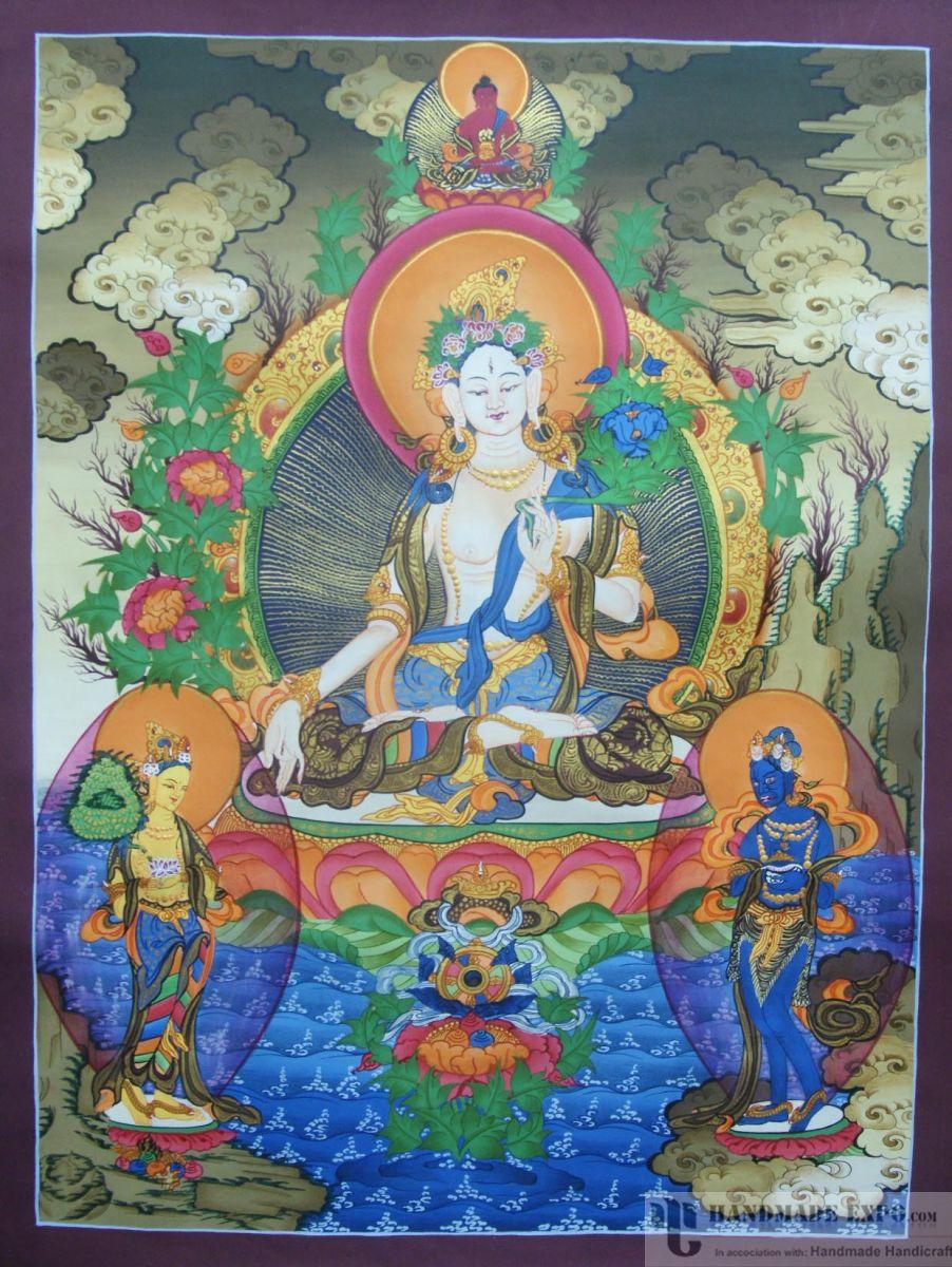 cotton buddhist singles Floral print on light beige cotton single bedspread (cotton.