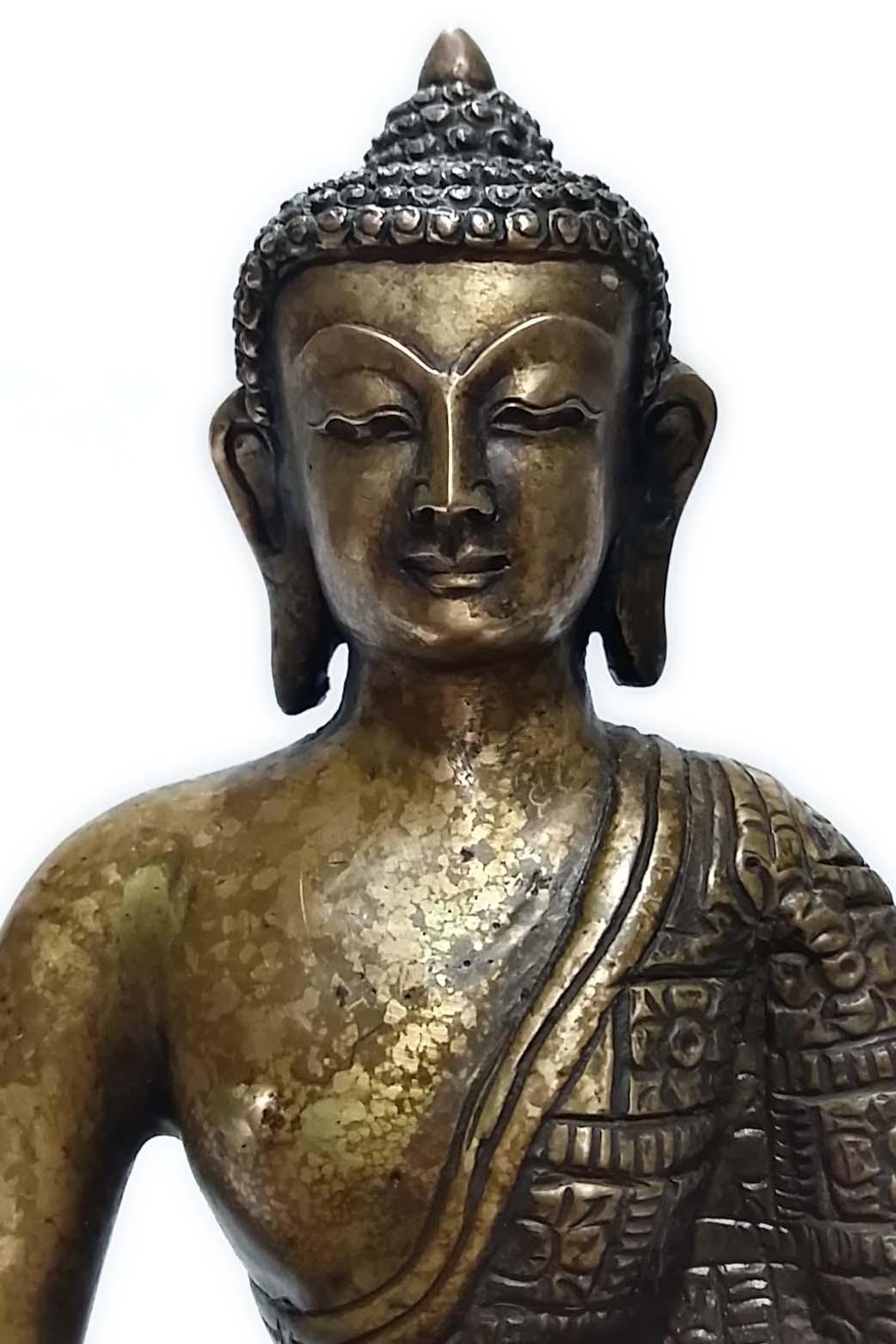 Nepali Statues : Old Style Akshobhya Buddha, USD: $100, Size