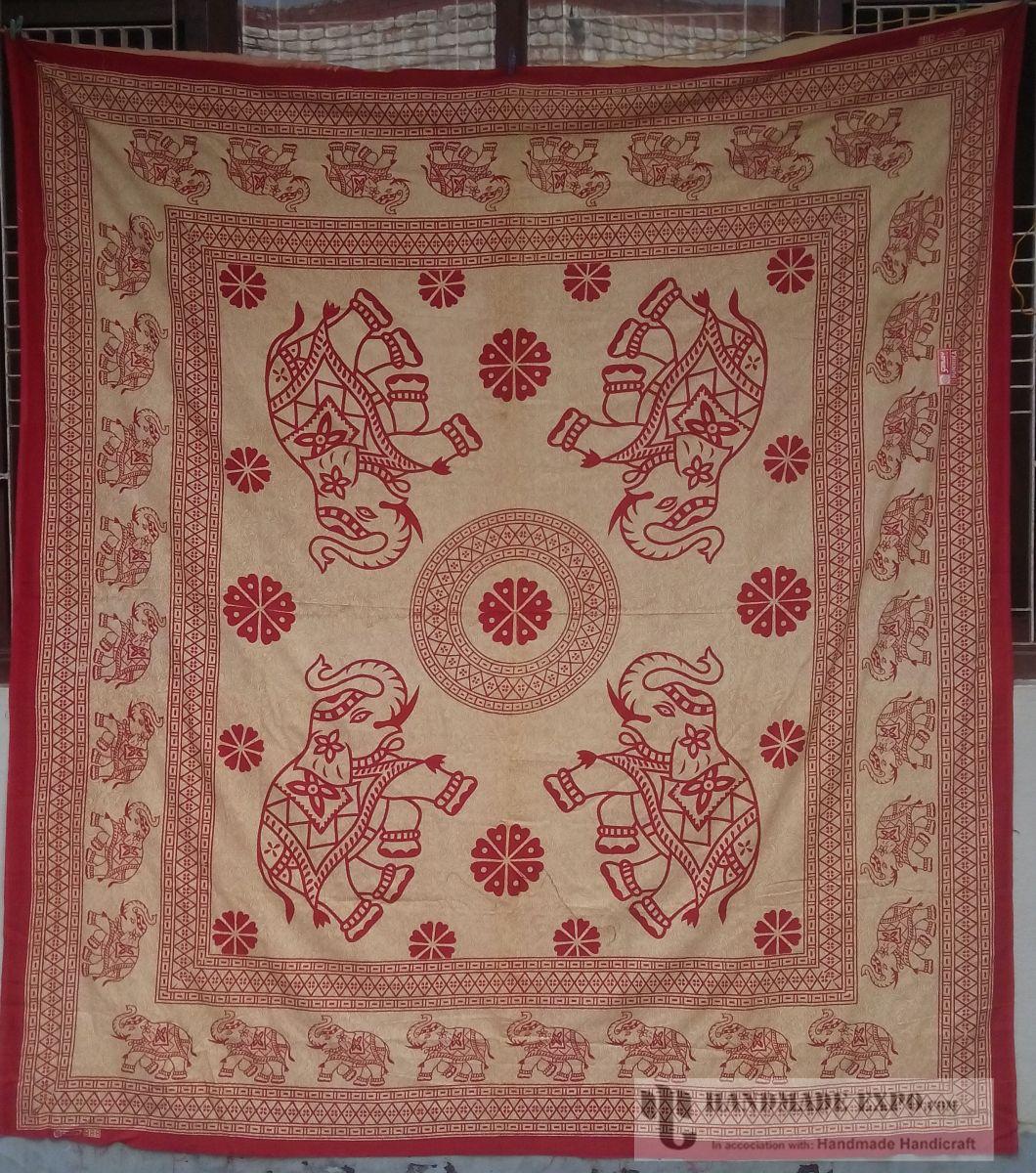 Handmade bed sheets design - Elephant Design Bed Sheet Handmade Handicraft Bed Sheets Bed Sheets Elephant Design Bed Sheet Cotton