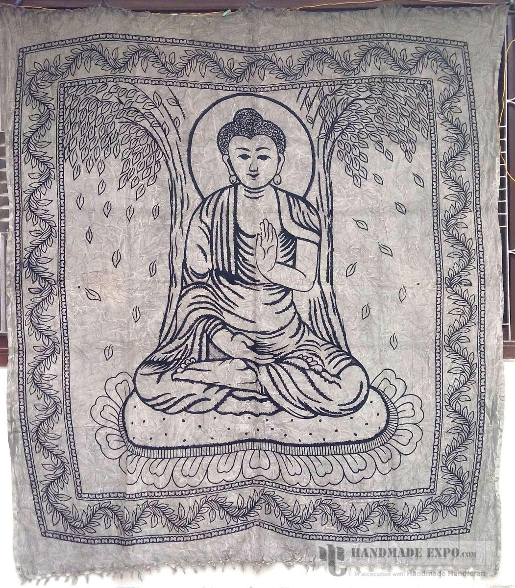 Handmade bed sheets design - Blessing Buddha Design Bed Sheet Handmade Handicraft Bed Sheets Bed Sheets Blessing Buddha Design Bed Sheet Cotton