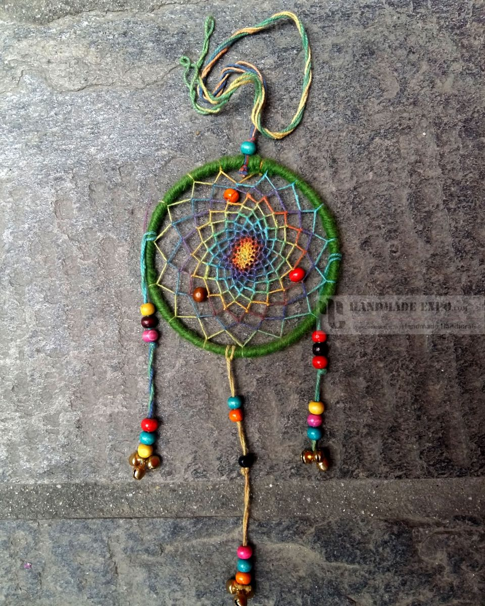 Dream Catcher Without Feathers 40CM GREEN DREAM CATCHER WITHOUT FEATHER Handmade Handicraft 1