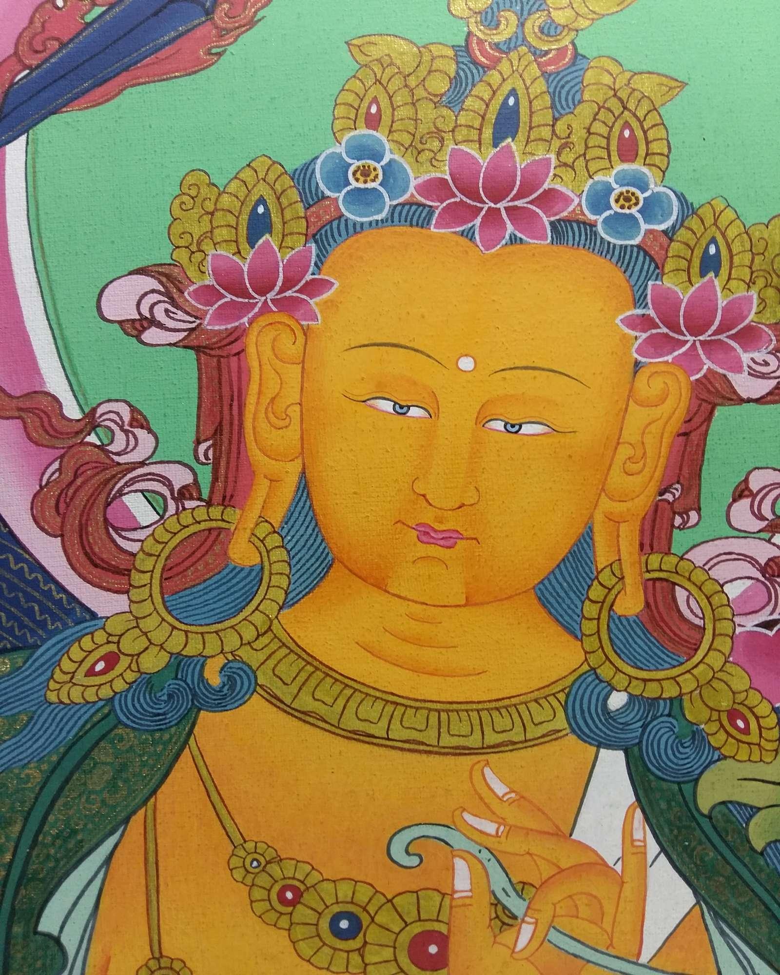 TIBETAN THANGKA MANJUSHREE :: Handmade Handicraft-> TIBETAN THANGKA ...
