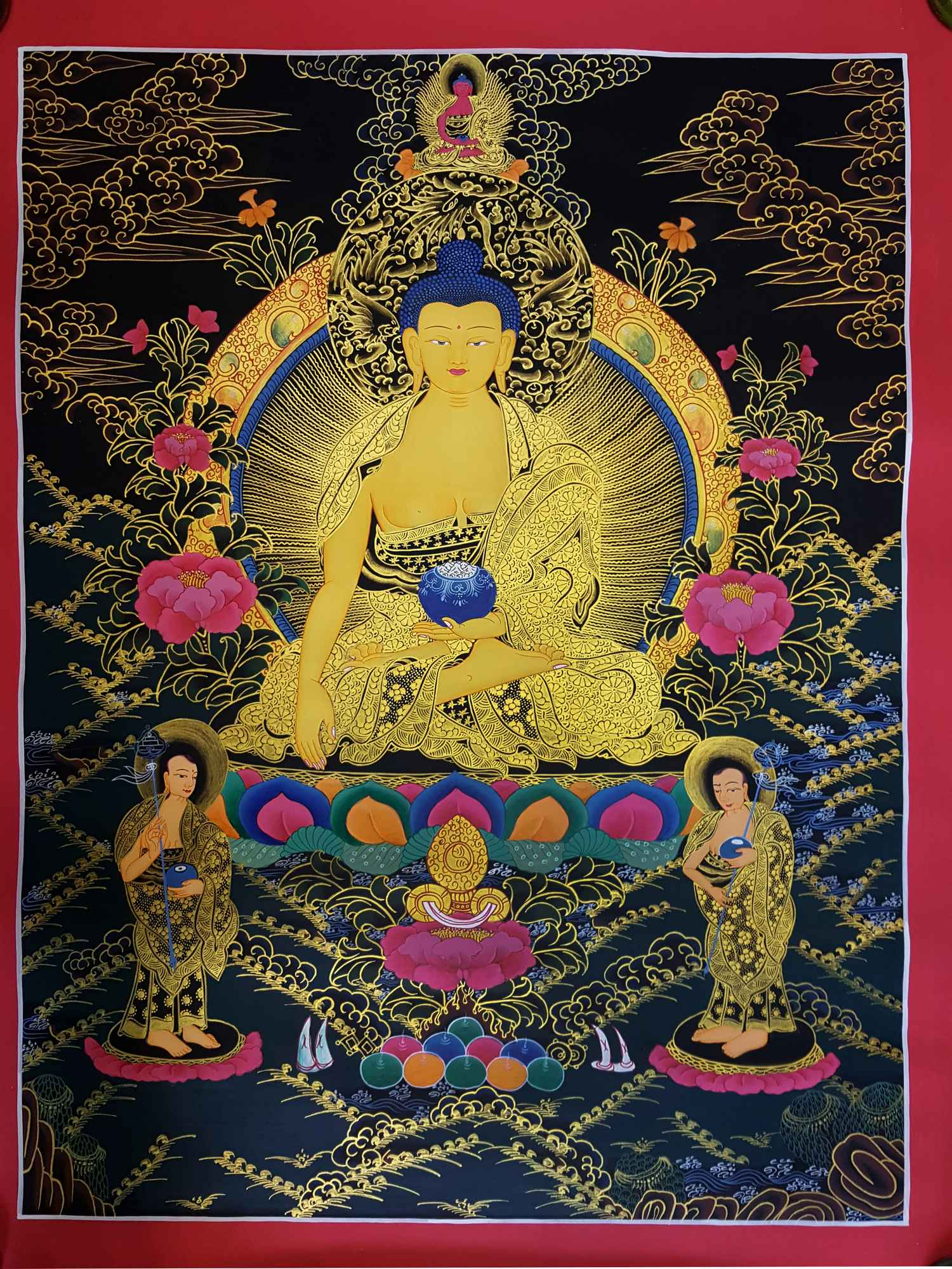 SHAKYAMUNI BUDDHA THANGKA [TIBETAN STYLE] [PAINTING] :: Handmade ...