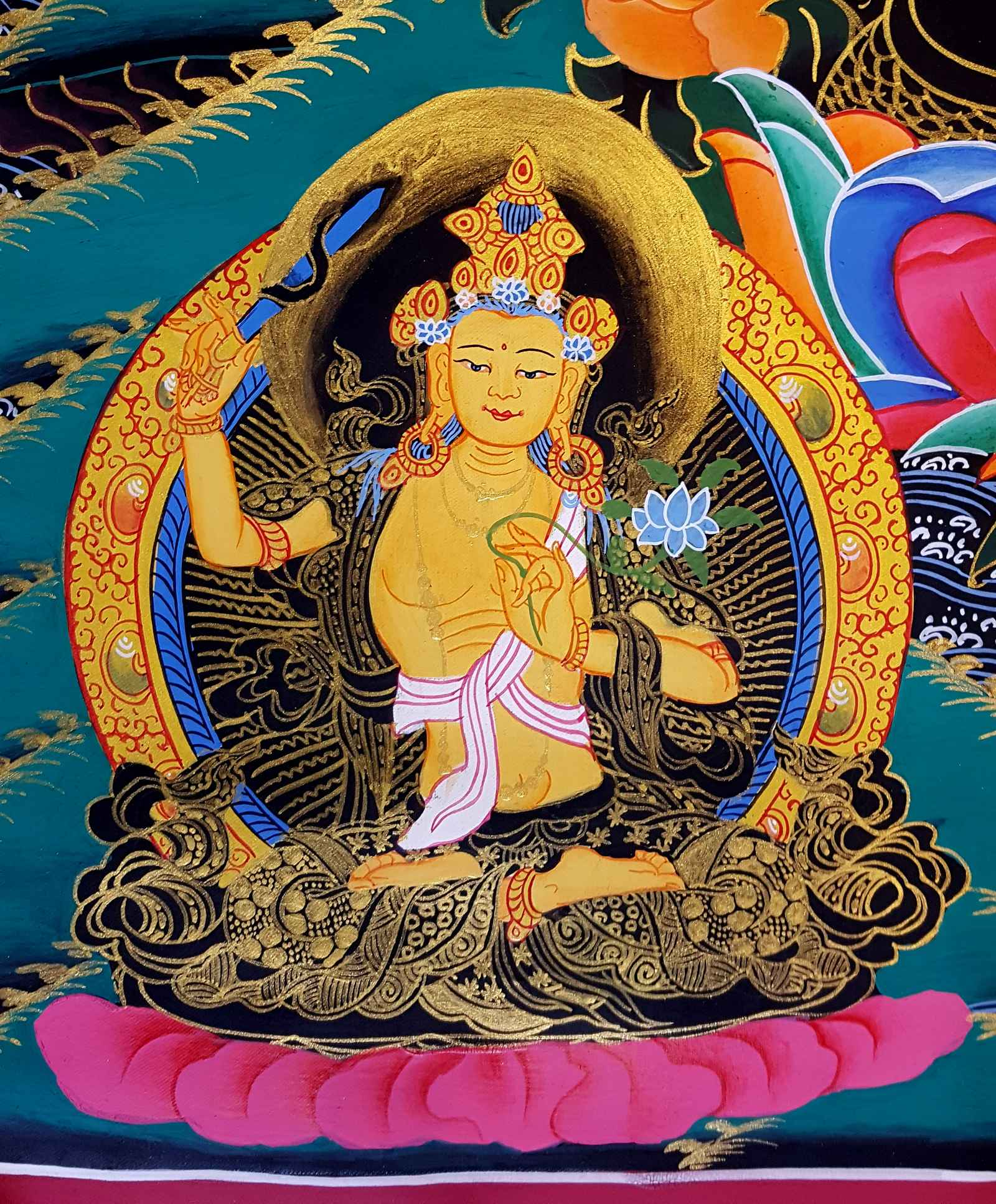 Tibetan Thangka 1000 Armed Avalokitesvara Thangka