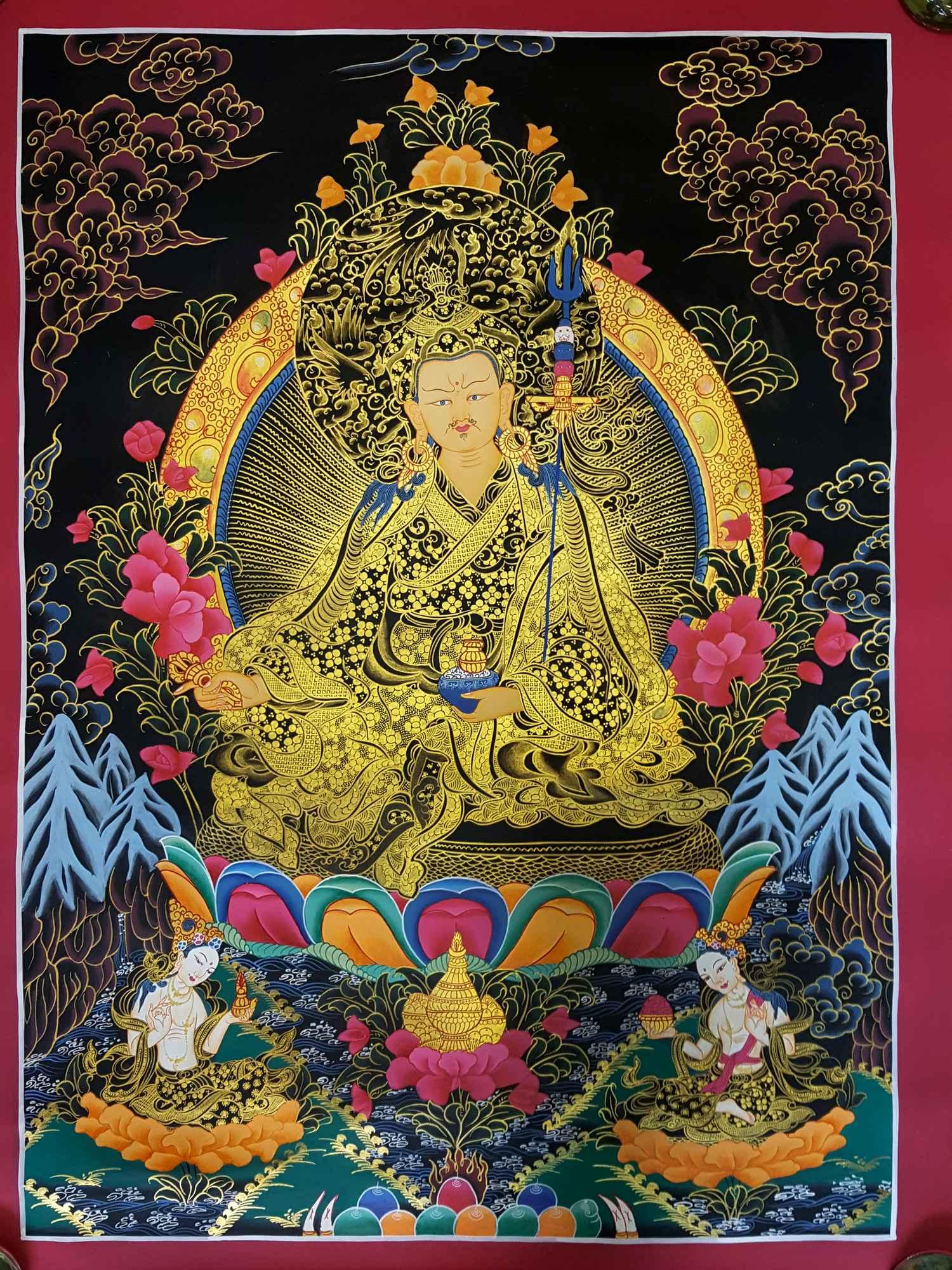GURU PADMASAMBHAVA THANGKA [TIBETAN STYLE] [PAINTING] :: Handmade ...