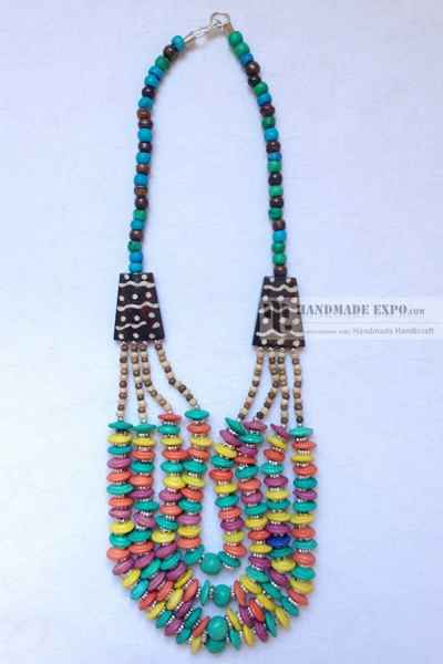 Multi color Beads Necklace -11310