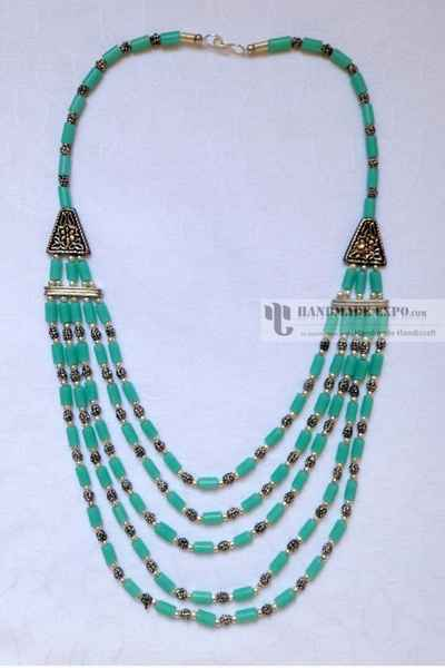 Beads and Metal Necklace-11311