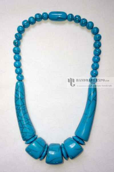 Afircan Tribal Bone Necklace-11313