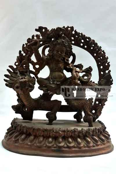 White Jambala Statue in Natural Patina-11635