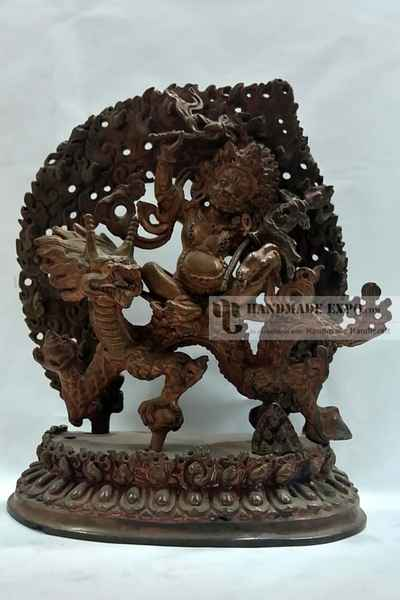 White Jambala Statue in Natural Patina-11636