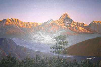 Mountain Oil painting-4454