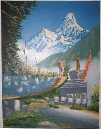 Mount everest Oil painting-4455